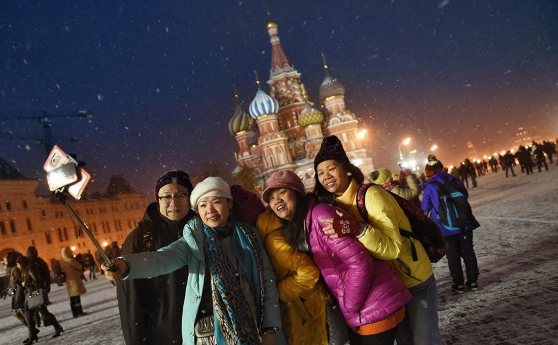 Количество въездных туристов в России выросло на 25%