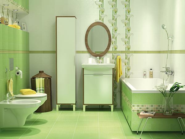 Плитка для ванной, керамический декор
