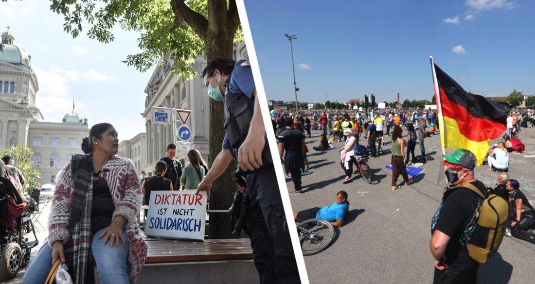 Германия вышла на улицы с протестом против карантина: десятки городов и тысячи участников
