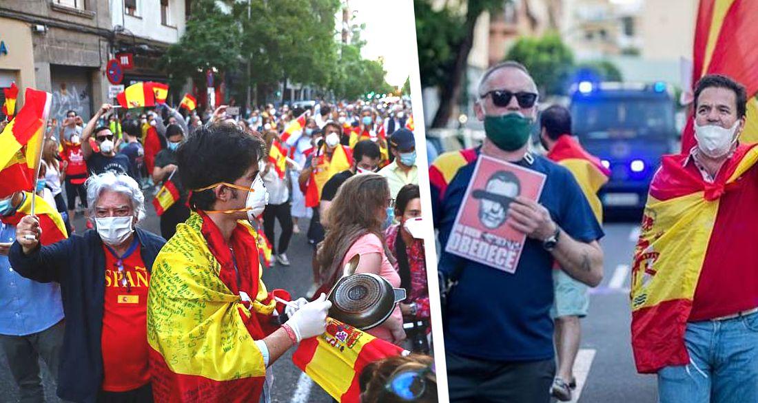 Испания захлебнулась в протестах против карантина и масочного режима