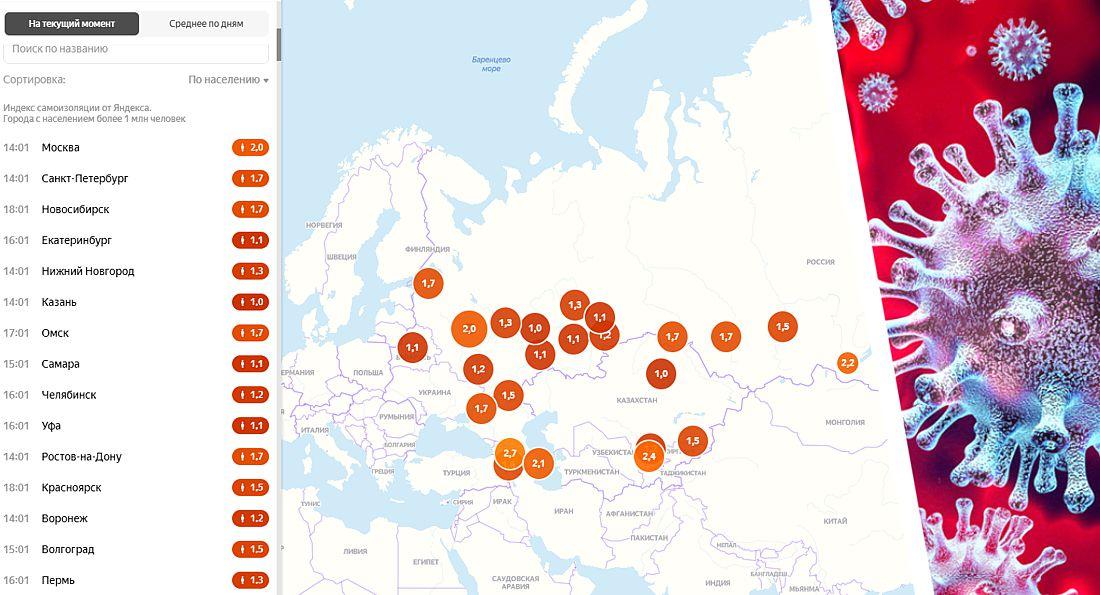 Коронавирус в России на 21.05: Москва и Питер ногами «проголосовали» против самоизоляции - её индекс упал до 2.0 и 1.7