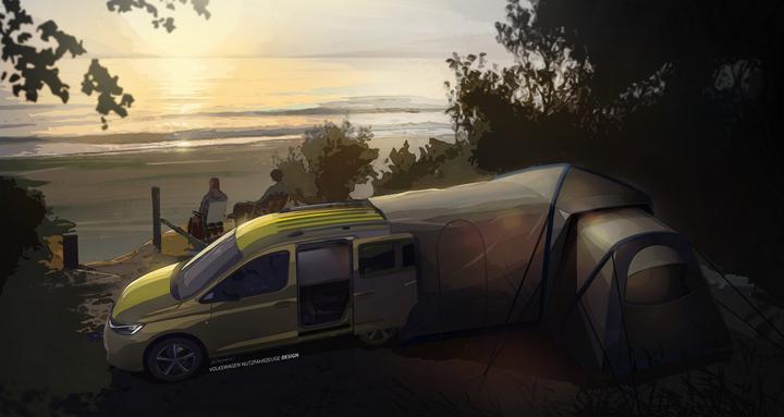 Volkswagen выпустит мини-кемпер на базе нового Caddy