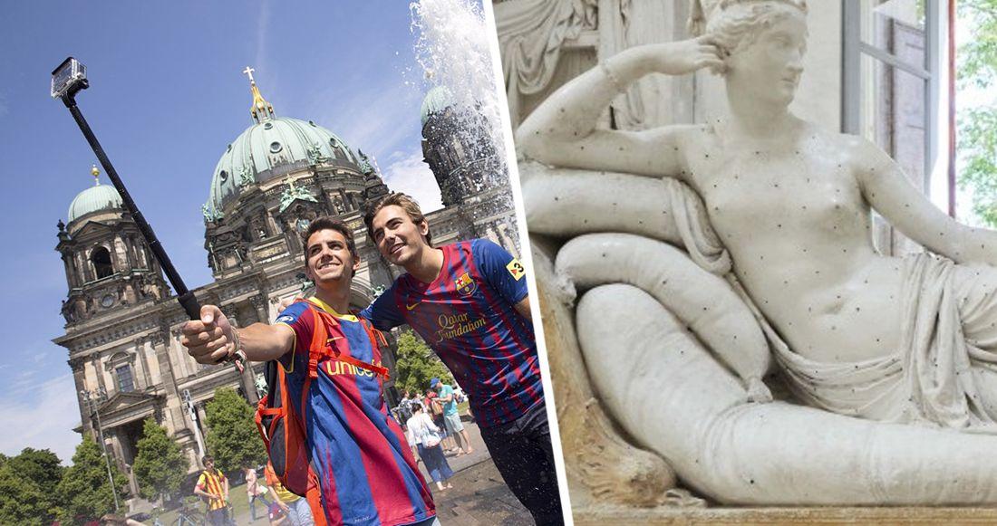 В Италии турист во время селфи сломал пальцы ног статуи Антонио Кановы
