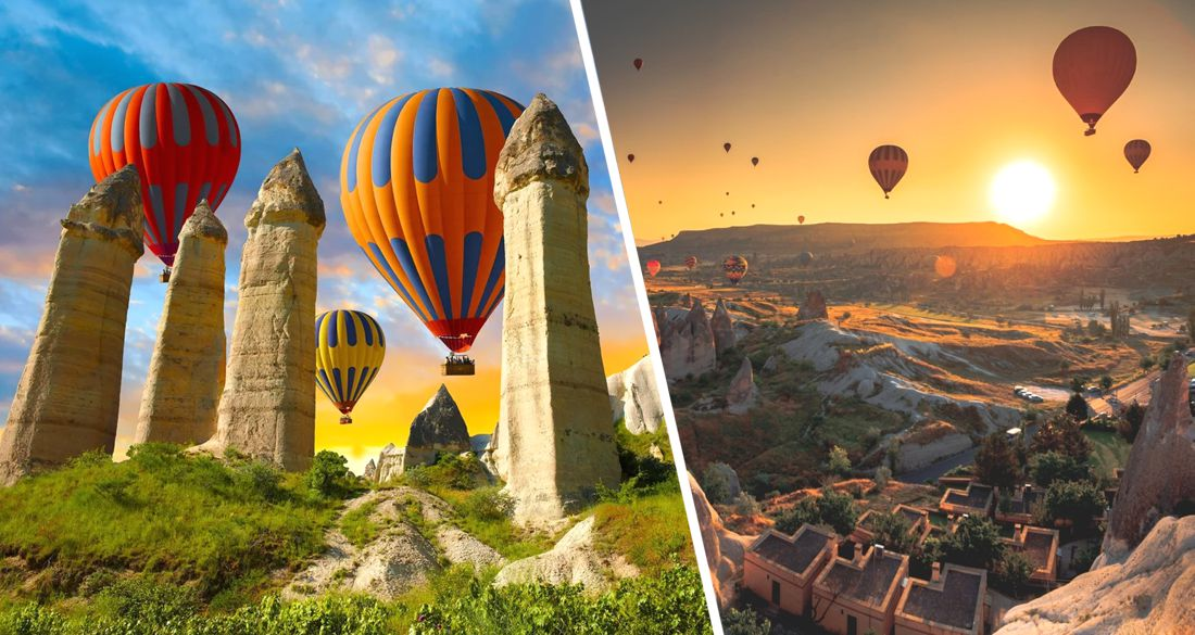 В турецкой Каппадокии после 5-месячного перерыва туристов вновь начали катать на воздушных шарах