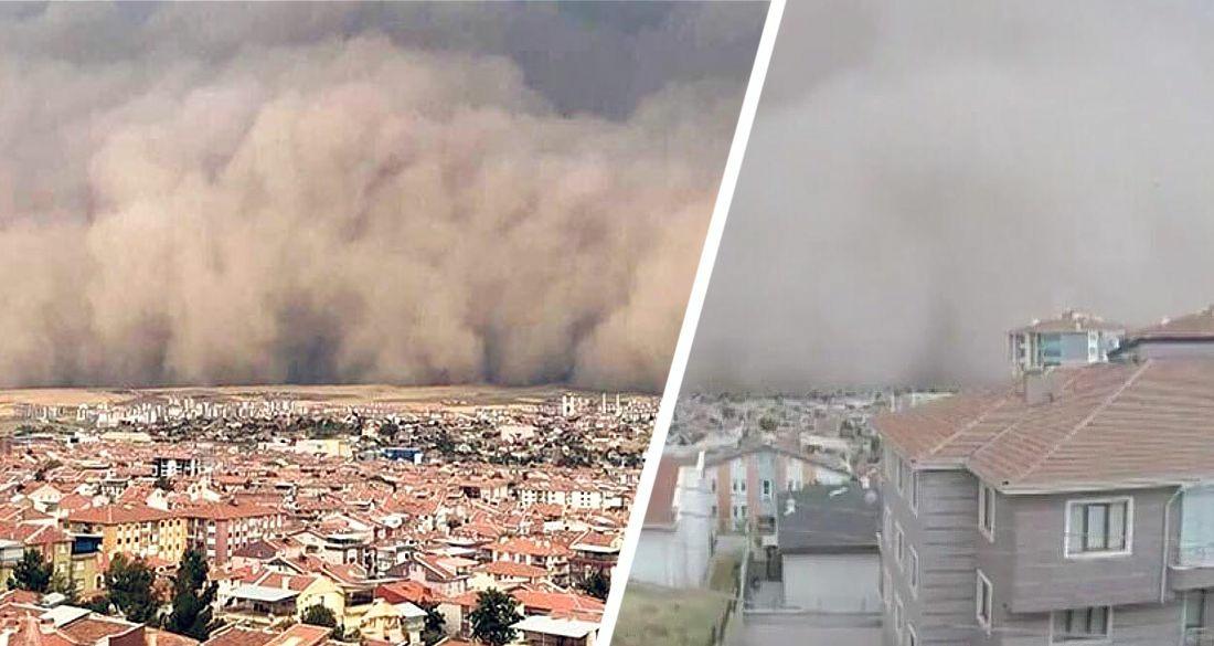 Власти Турции: Анталию накрыла пыльная буря из пустыни