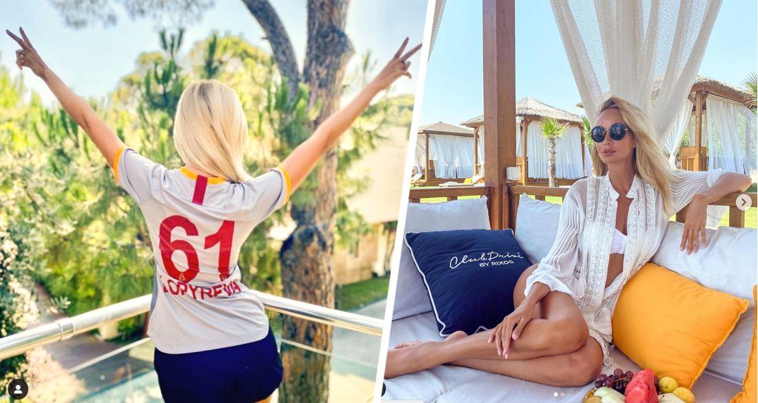 Виктория Лопырева продемонстрировала свои бедра в отеле Rixos в Турции