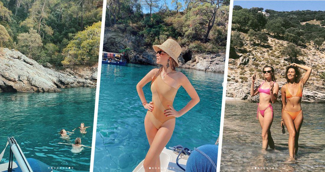 Ведущая Орла и Решки продемонстрировала свою фигуру в купальнике на яхте в Турции после отдыха на Алтае и Сочи