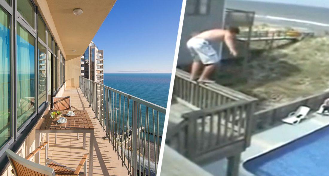 В Турции турист вывалился с балкона в отеле и лишился ноги