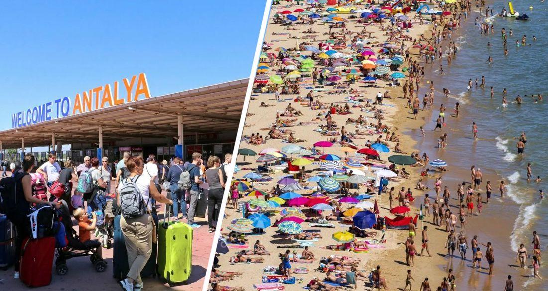 В Анталию хлынули толпы: на курорт за день прибыло 45502 туриста на 208 самолетах из 18 стран
