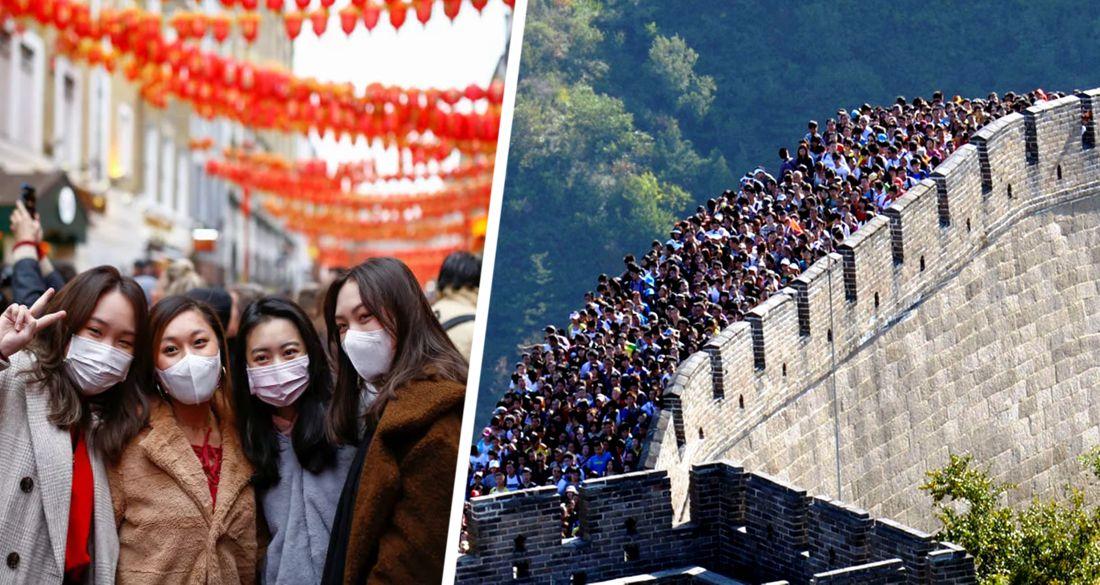 В Китае 600 млн туристов ринулись путешествовать: сумасшедшие очереди и гигантские пробки