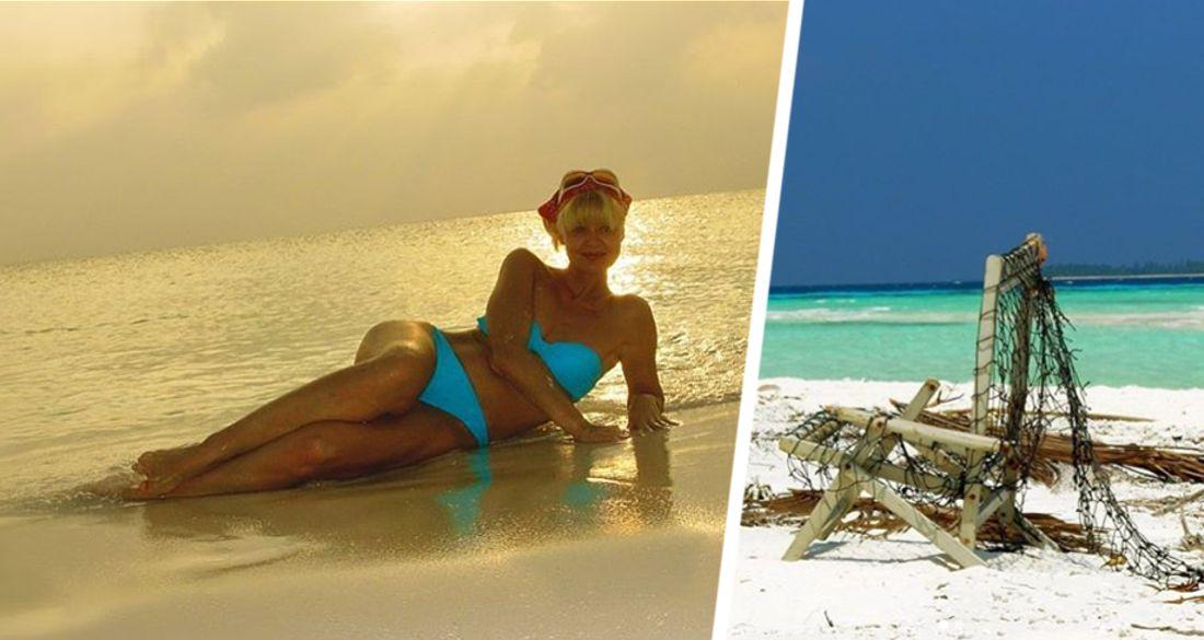 Юлия Меньшова продемонстрировала свою фигуру в бикини на Мальдивах