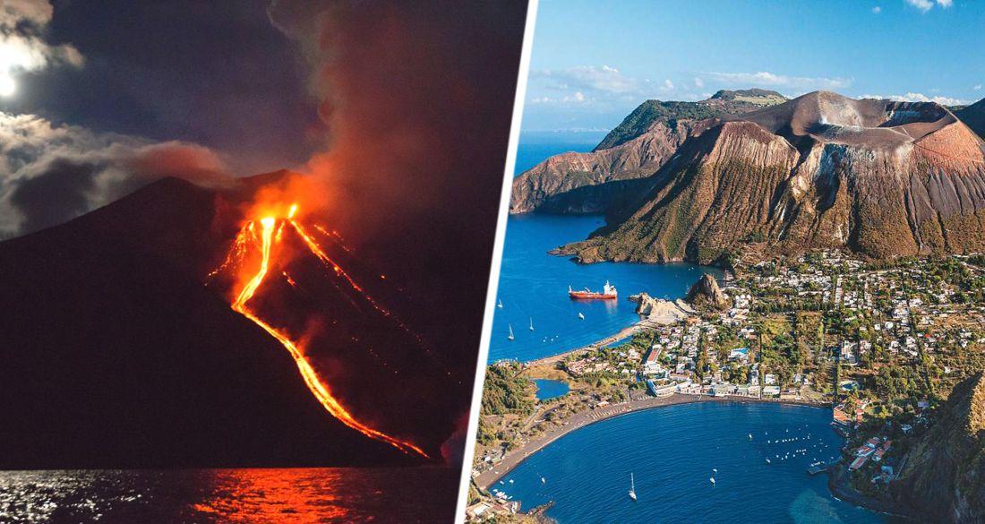 На острове в Италии взорвался вулкан: города засыпало пеплом
