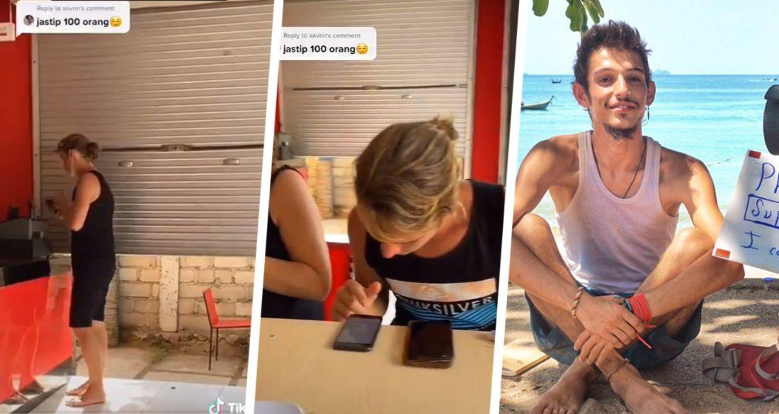 Российский турист, застрявший на Бали с марта, стал героем вирусного видео