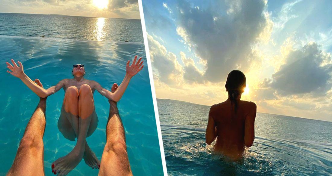 Светлана Бондарчук предстала в причудливой позе на Мальдивах