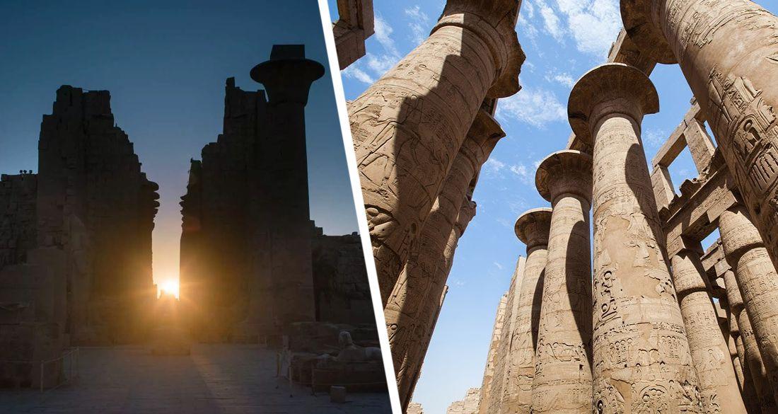 Египет: толпы туристы съехались в Луксор на зимнее солнцестояние к статуе бога Амона в Карнакском храме