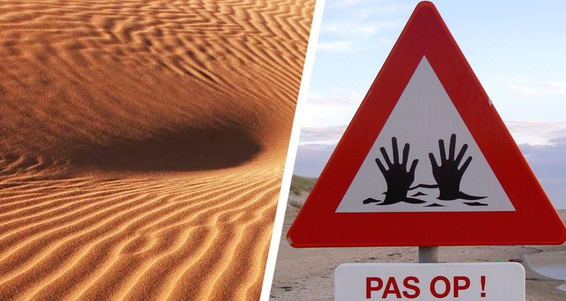 На туристической достопримечательности Египта человека засосали зыбучие пески