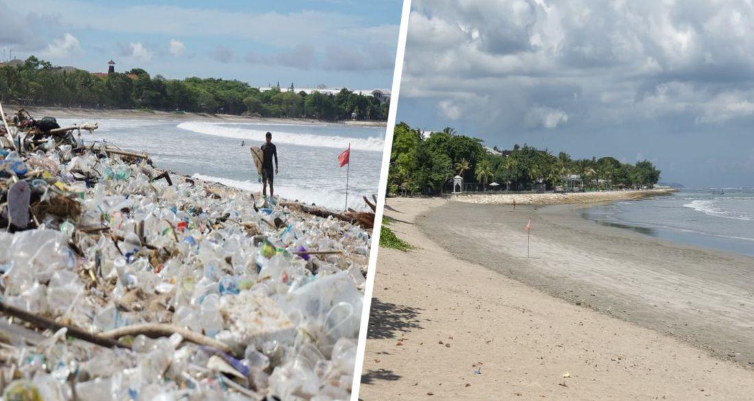 Пляжи Бали завалило тоннами мусора: ФОТО