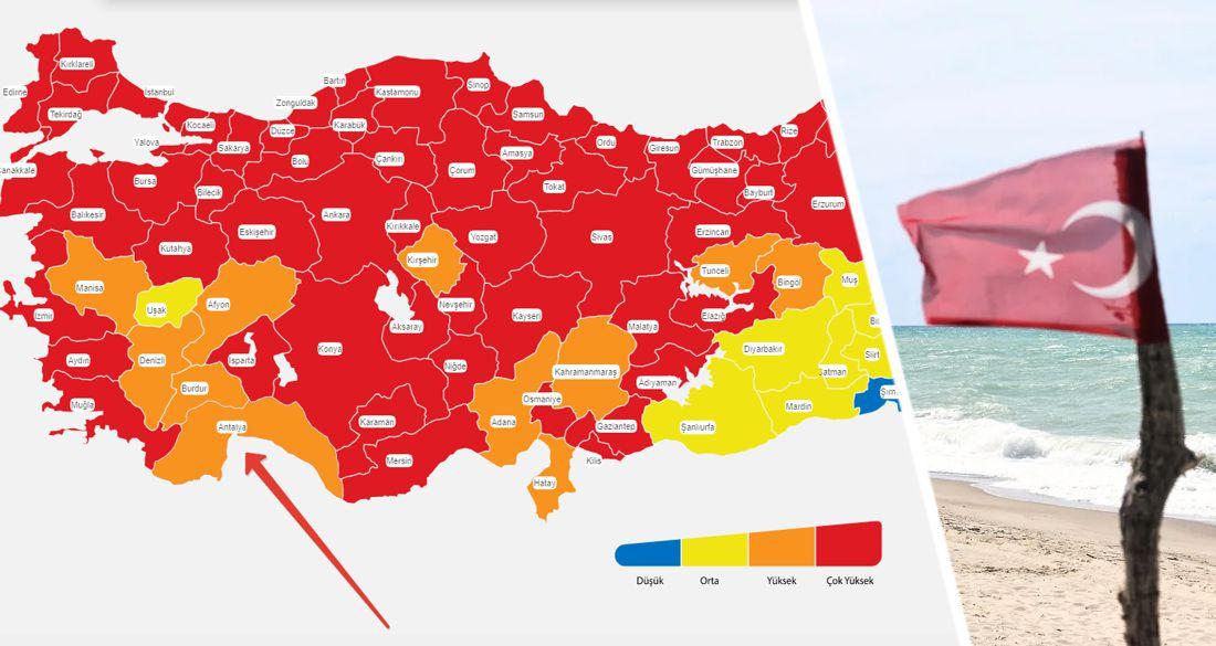 С курортов Турции поступили хорошие новости: Анталия стала «оранжевой»