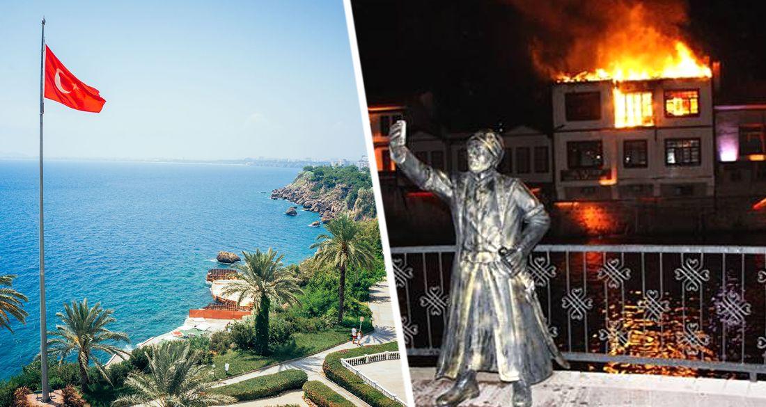 В Турции сгорел отель: он проработал всего 2 дня после открытия