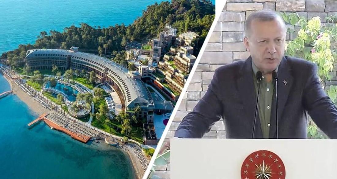 Эрдоган открыл люксовый отель в Анталии в ожидании российских туристов