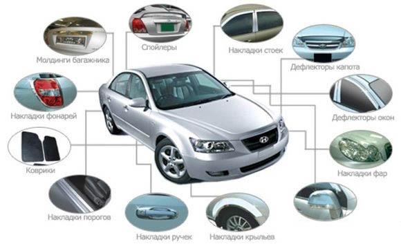 Запасные части и аксессуары для тюнинга автомобилей