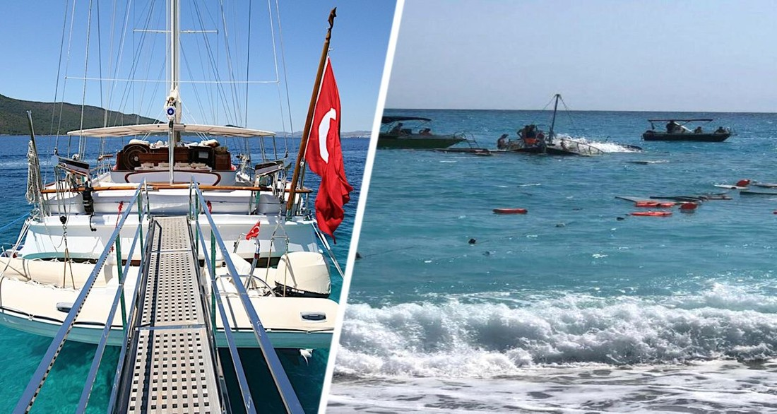 Яхта с 35 туристами перевернулась в Турции: есть погибшие и раненые
