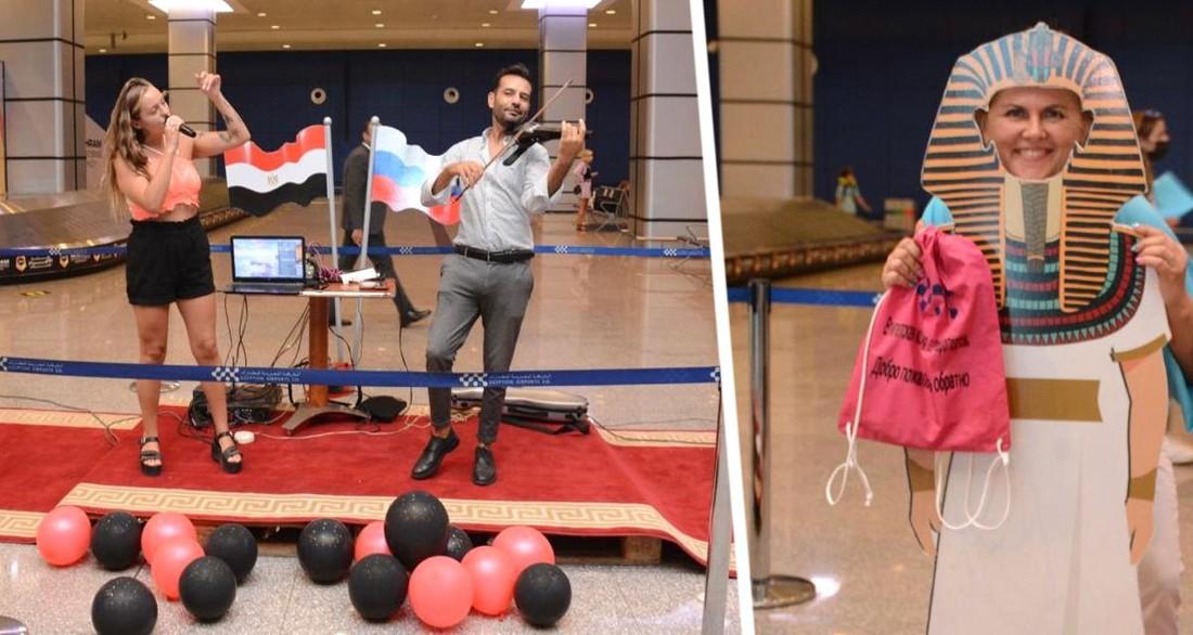 Цветы, скрипка и фараоны: как встречали первых российских туристов в Хургаде