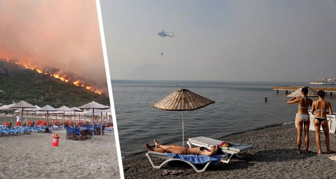 В Турции призвали ехать отдыхать в сгоревшие курортные зоны