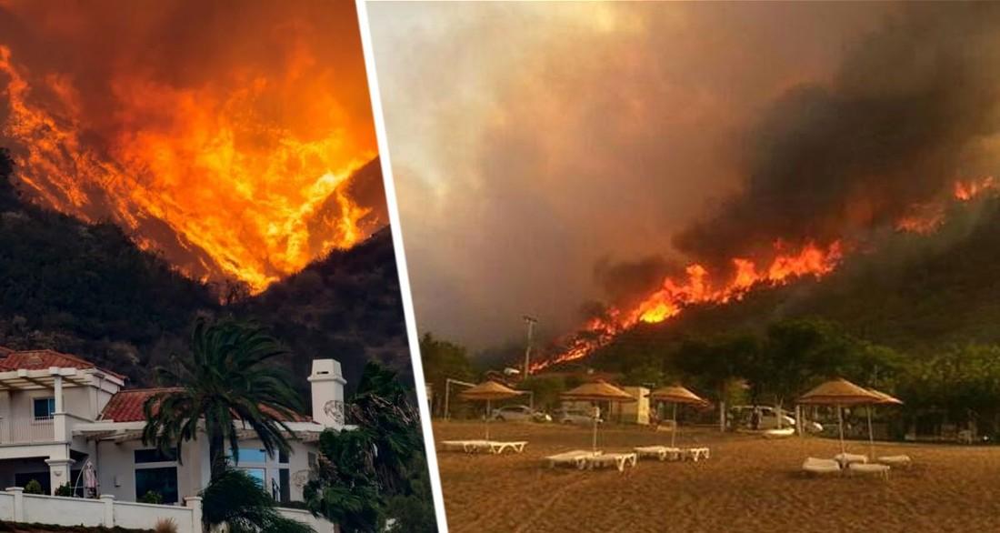 Тысячи туристов эвакуированы в Греции из-за пожаров