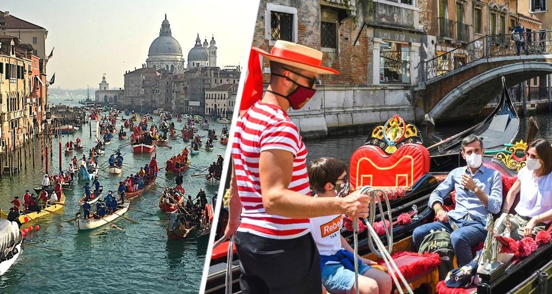 Плевки, оскорбления и удары кулаком: в Венеции начались постоянные драки местных с туристами за места в водном трамвае